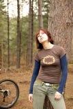 Montaña bikeing Imagen de archivo libre de regalías