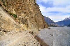 Montaña biking en Nepal Fotos de archivo