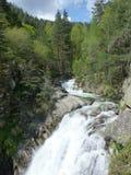 Montaña Bulgaria de Pirin de la cascada de Popina Laka Fotografía de archivo
