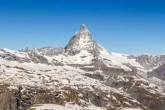 Montaña Cervino, Zermatt, Suiza imágenes de archivo libres de regalías