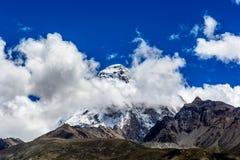 Montaña Chomolhari Fotos de archivo