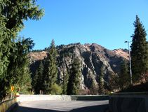 Montaña, cielo, árboles Imágenes de archivo libres de regalías