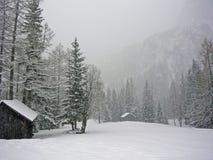 Montaña con nieve Foto de archivo libre de regalías