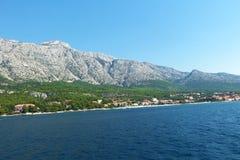 Montaña cristalina Croacia del agua Fotografía de archivo libre de regalías