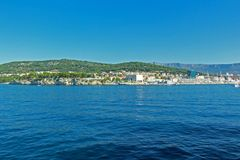 Montaña cristalina Croacia del agua Foto de archivo libre de regalías
