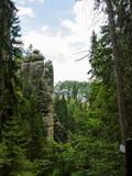 Montaña de Adrspach Fotografía de archivo