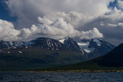 Montaña de Ahkka Fotografía de archivo