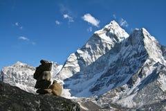 Montaña de Ama Dablam Fotos de archivo