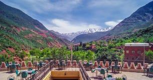 Montaña de atlas del paisaje de Marruecos Foto de archivo