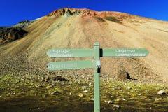 Montaña de Brennisteinsalda de Landmannalaugar, Islandia Imagenes de archivo