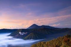 Montaña de Bromo en el parque nacional de Tengger Semeru Fotos de archivo libres de regalías