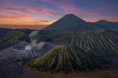 Montaña de Bromo, volcán en Indonesia Fotos de archivo libres de regalías