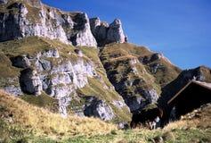 Montaña de Caraiman en Bucegi fotos de archivo