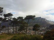 Montaña de Ciudad del Cabo y del vector Imagen de archivo libre de regalías