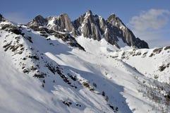 Montaña de Colbricon, dolomías Fotografía de archivo libre de regalías