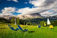 Montaña de Cristallo cerca de Cortina d'Ampezzo, Italia Foto de archivo libre de regalías