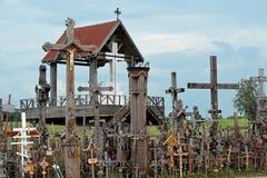 Montaña de cruces Fotos de archivo