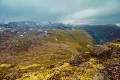 Montaña de Dalsnibba, Noruega Fotografía de archivo