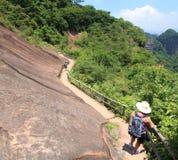 Montaña de Danxiashan en China Fotos de archivo libres de regalías