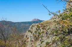Montaña de Demerji en Crimea cerca de Alushta imagen de archivo