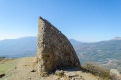 Montaña de Demerji en Crimea cerca de Alushta imagenes de archivo