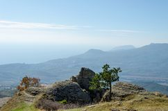 Montaña de Demerji en Crimea cerca de Alushta imágenes de archivo libres de regalías