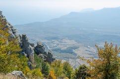 Montaña de Demerji en Crimea cerca de Alushta Fotos de archivo