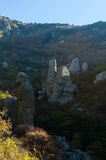 Montaña de Demerji en Crimea cerca de Alushta Fotografía de archivo