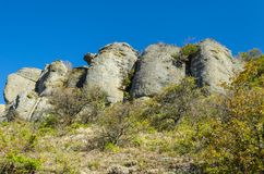 Montaña de Demerji en Crimea cerca de Alushta Imagen de archivo libre de regalías