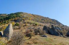 Montaña de Demerji en Crimea cerca de Alushta Foto de archivo libre de regalías