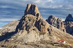 Montaña de Drei Zinnen Imágenes de archivo libres de regalías