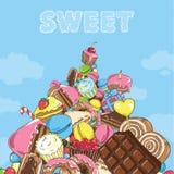 Montaña de dulces Imagen de archivo
