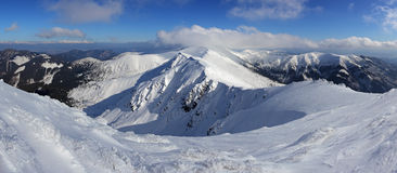 Montaña de Eslovaquia del invierno - Tatras bajo de Chopok Fotografía de archivo libre de regalías