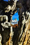 Montaña de Fitz Roy, la Argentina Imágenes de archivo libres de regalías