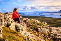 Montaña de Helgafell Foto de archivo libre de regalías