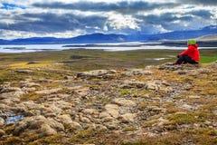 Montaña de Helgafell Fotos de archivo libres de regalías