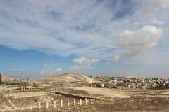 Montaña de Hermod cerca de las ruinas antiguas de Belén Foto de archivo libre de regalías