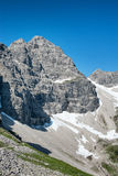 Montaña de Hochvogel en las montañas bávaras, Alemania Imagen de archivo libre de regalías