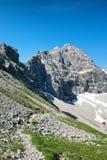 Montaña de Hochvogel en las montañas bávaras, Alemania Fotos de archivo