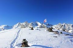 Montaña de Hohsaas, 3.142 m Las montañas, Suiza Imagen de archivo