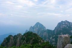 Montaña de Huangshan hermosa en China Fotos de archivo libres de regalías