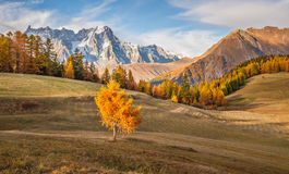 Montaña de Italia Autumn Landscape Foto de archivo