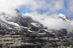 Montaña de Jungfrau. Foto de archivo libre de regalías