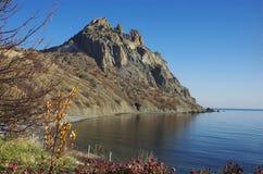 Montaña de Karadag en Crimea del este Fotos de archivo