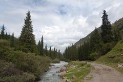 Montaña de Kirguistán Imagen de archivo