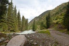 Montaña de Kirguistán Imagenes de archivo