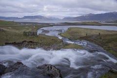 Montaña de Kirkjufell en Grundarfjordur Imagen de archivo libre de regalías