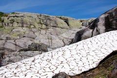 Montaña de Kjerag, Noruega Imagen de archivo libre de regalías