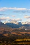 Montaña de Krivan, Vysoke Tatry Imagenes de archivo