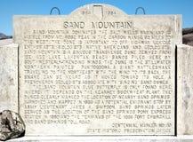 Montaña de la arena, Nevada Imagenes de archivo